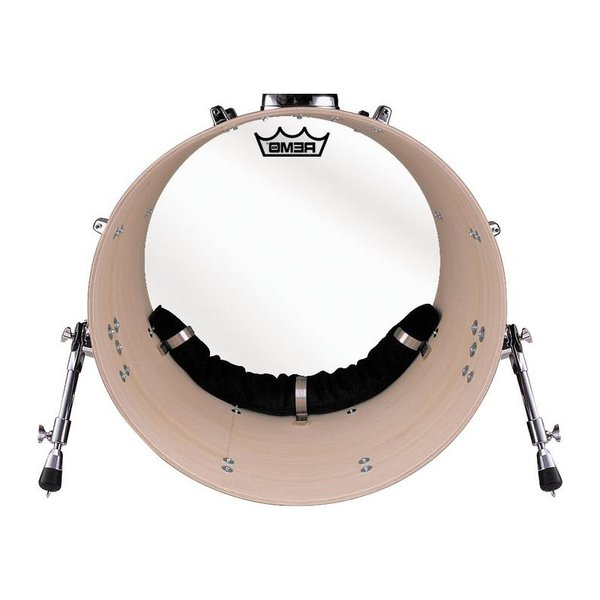 "Remo Remo Hardware Package - Bass Muffle Strip Black for 18"" Diameter Drum"