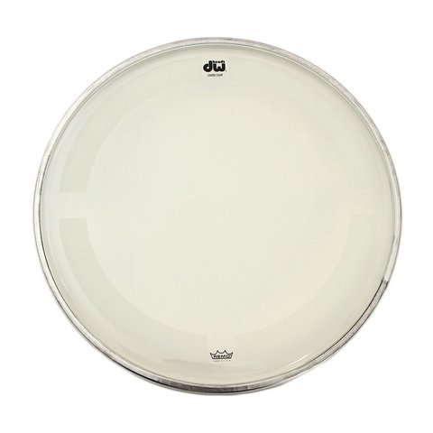 "DW 20"" Coated Clear Bass Drum Head"