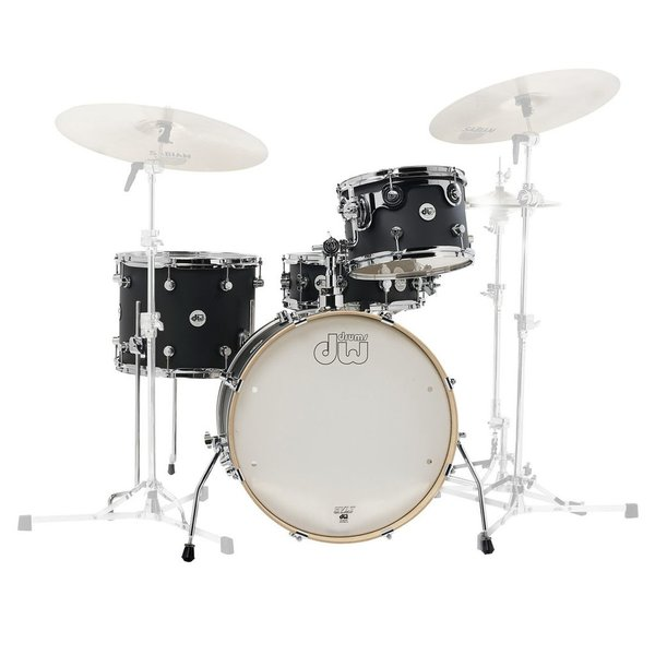 DW DW Design Frequent Flier 4 Piece Shell Pack in Satin Black