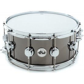 DW DW Collector's 6.5x14 Black Nickel Over Brass Snare Drum