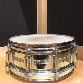 Vintage Rogers 1960's Dynasonic Chrome Over Brass 5 Line Snare Drum