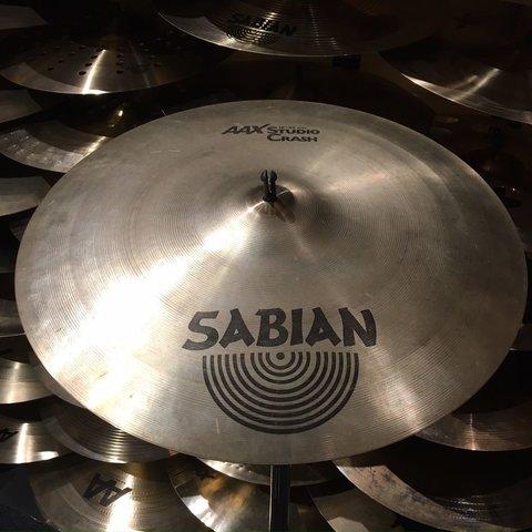"""Used Sabian AAX 18"""" Studio Crash Cymbal"""