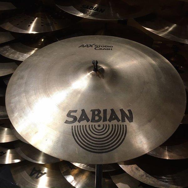 "Used Used Sabian AAX 18"" Studio Crash Cymbal"