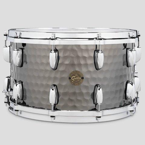 Gretsch Full Range 8x14 Hammered Steel Snare Drum