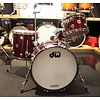 Used DW Collector's Prototype Mahogany/Spruce 4 Piece Shell Pack in FP Ruby Glass w/Nickel Hdw