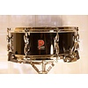 Vintage Premier 2000 5.5x14 Mahogany Snare Drum, Black Wrap