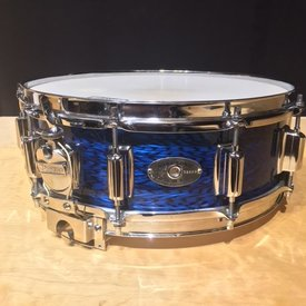 Vintage Rogers 1960's Dynasonic Wood 5x14 Snare, Blue Onyx, Mint Condition, Includes square fiber case