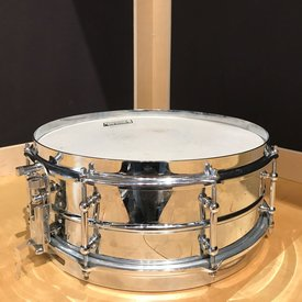 Used Vintage Made in Japan 5x14 Chrome over Aluminum Snare Drum