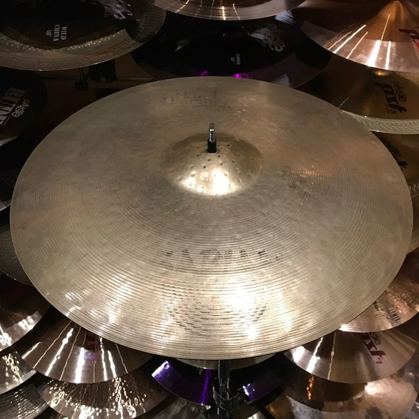 """Used Used Sabian Hand Hammered 21"""" Raw Bell Dry RIde"""