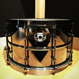Used Used Ludwig Black Magic 8x14 Snare Drum