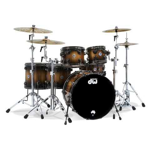 DW Collector's Limited Edition Tasmanian Sassafras 6-Piece Shell Pack with Black Nickel Hdw