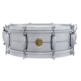 Gretsch Gretsch 135th Anniversary Solid Aluminum 5x14, 8-lug, Engraved Snare Drum w/ Deluxe Bag