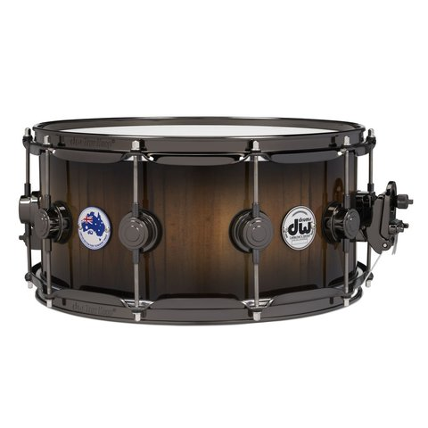 ***PRE-ORDER***DW Collector's Limited Edition Tasmanian Sassafras 6.5x14 Snare Drum w/ Black Nickel Hdw and Deluxe Bag