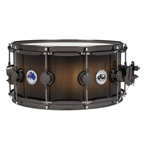 DW ***PRE-ORDER***DW Collector's Limited Edition Tasmanian Sassafras 6.5x14 Snare Drum w/ Black Nickel Hdw and Deluxe Bag