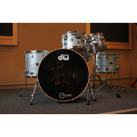DW Collector's Contemporary Classic 5 Piece Shell Pack in Contemporary Oyster Finish Ply, Danny Seraphine Clinic Kit