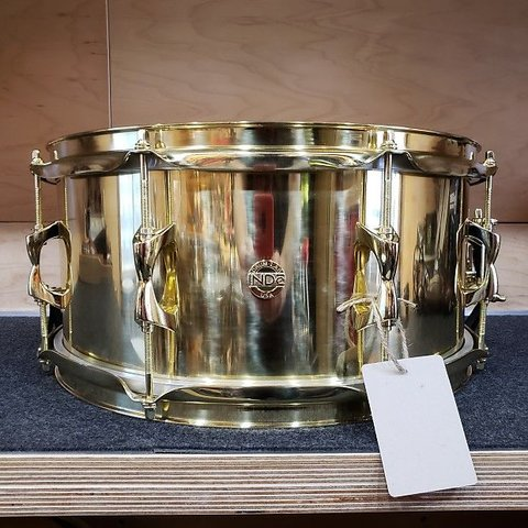 Independent Drum Lab 6.5x14 Brass Snare Drum, Brass Hoops and Hardware