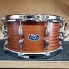 Chicago Drum & Restoration 7x14 10 Lug Snare Drum, Natural Mahogany Tung Oil Finish, Custom Mahogany/Poplar Shell w/ Solid Maple Re-Rings, Double Beavertail Lugs, Chrome Hardware, Inward-Angled Triple Flanged Hoops