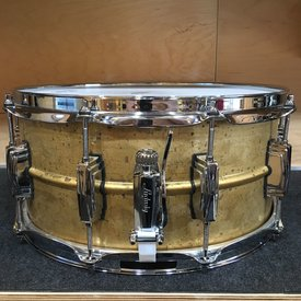 Used Used Ludwig 14x6.5 Raw Brass Supraphonic Snare Drum
