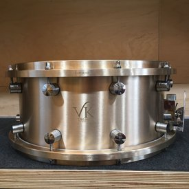 VK Drums VK Drums Cast B20 Bronze 6.5x14 Snare Drum w/ Cast Bronze Hoops