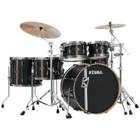 TAMA Superstar Hyper-Drive Duo 5-piece shell pack Flat Black Vertical Stripe
