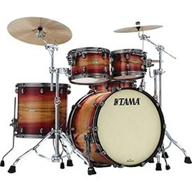 TAMA Starclassic Maple Exotix 4-piece shell pack Ruby Pacific Walnut Burst