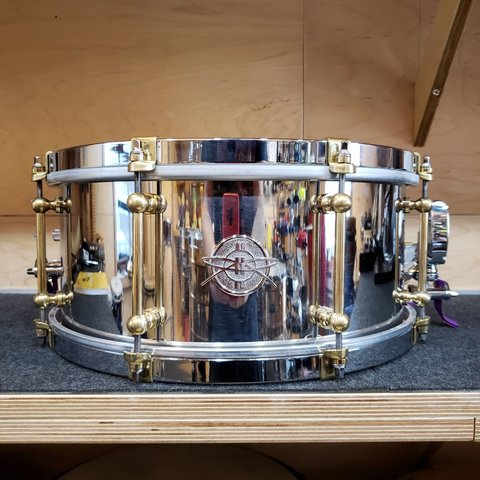Dunnett Classic 6.5x14  Stainless Steel Snare Drum - Polished