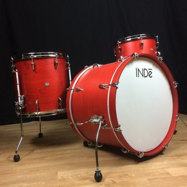 INDE INDe Maple Drum Kit 24, 13, 16 in Red Satin