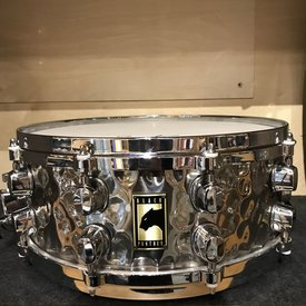 Mapex USED Mapex Black Panther 6.5x14 Hammered Steel Snare Drum W/Die Cast Hoops