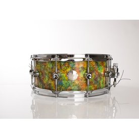 "Doc Sweeney Doc Sweeney ""Timothy Leary"" Abstract Series Snare<br /> 14x6 Stave using Curly Maple"