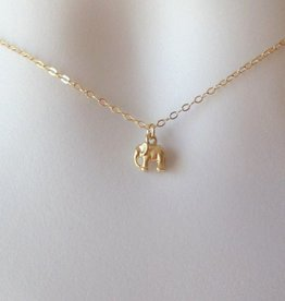 The Wandering Dandelion Wandering Dandelion Tiny Elephant Necklace