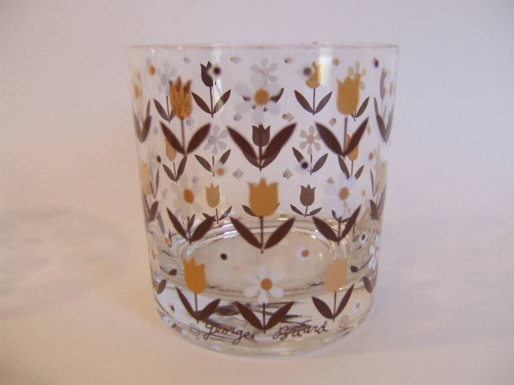 Vintage Georges Briard Daisy Rocks Glasses (6)