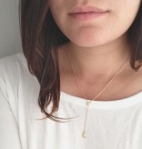 Honeycat Honeycat Moon Star Lariat Necklace