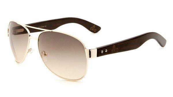 EKO Wide Metal Aviator Sunglasses