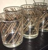 Vintage Georges Briard Mid-Century 60's Graphite Glasses (6)