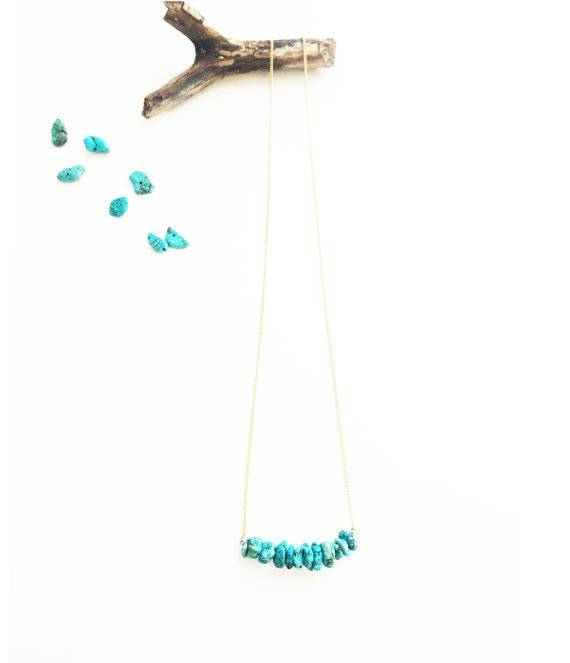 Mana Made Jewelry Mana Made Turquoise Stone Bar Necklace