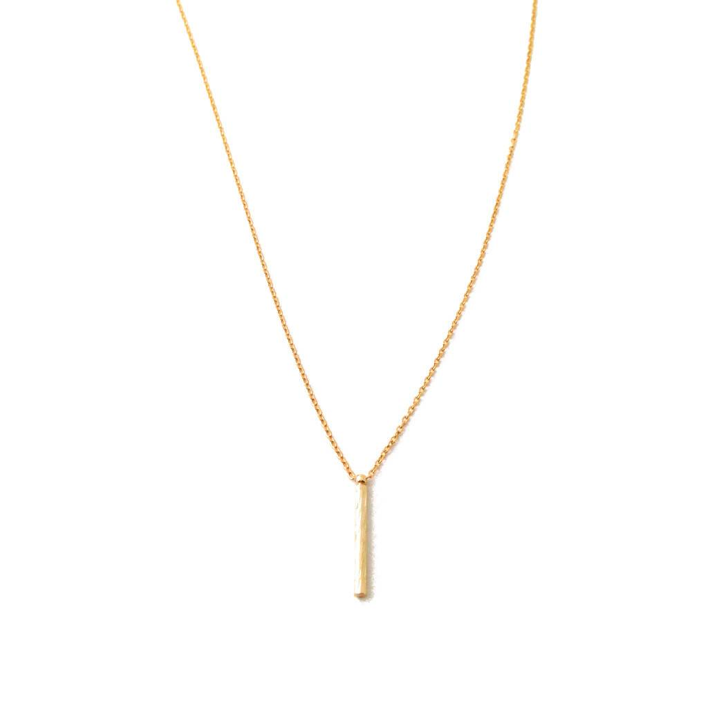 Honeycat Honeycat Drop Pipe Bar Necklace
