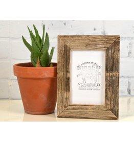 Signed & Numbered Handmade Cedar Wood Frame 8x10 - Rustic