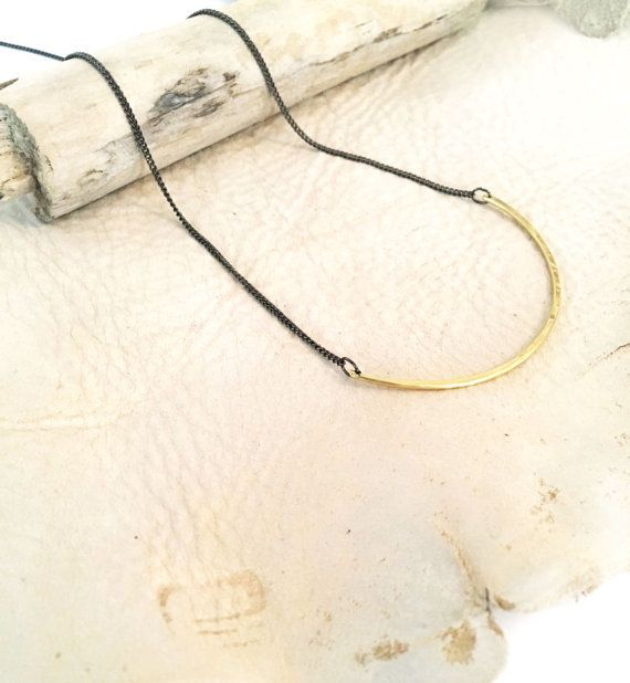 Mana Made Jewelry Mana Made Hammered Brass U Necklace