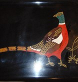 Vintage Couroc of Monterey Ring Necked Pheasant Serving Tray
