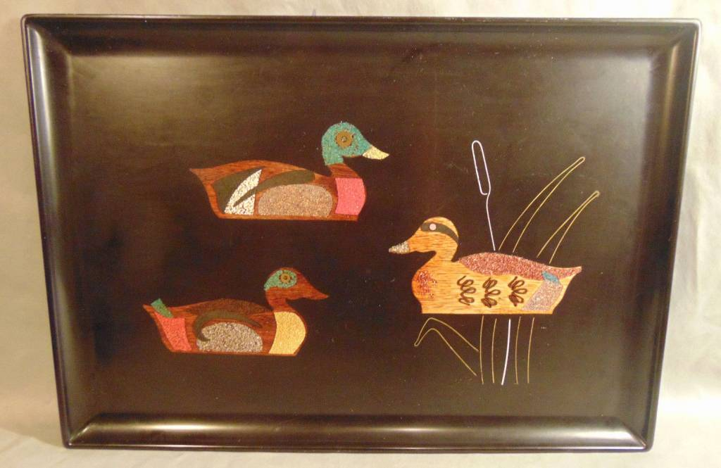 Vintage Couroc of Monterey Duck Tray