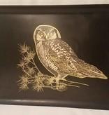 Vintage Couroc of Monterey Owl Tray