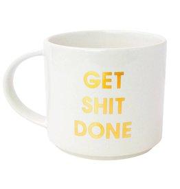 Chez Gagne Gold Foil Mug - Get Shit Done