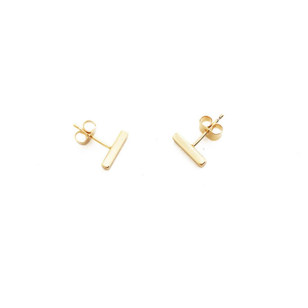 Honeycat Honeycat Midi Bar Earrings - Gold