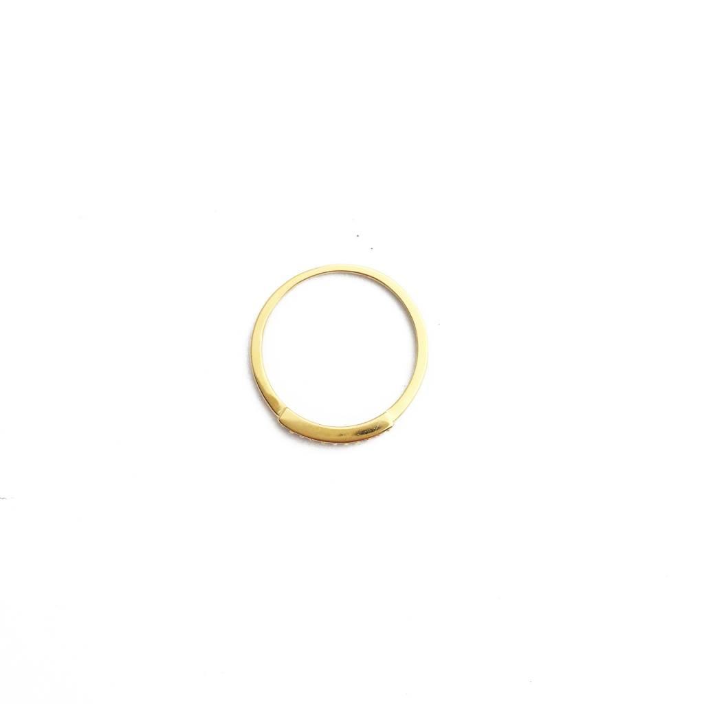 Honeycat Honeycat Crystal Row Ring