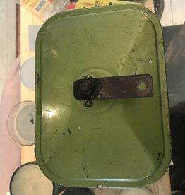Vintage Antique Green Car Mirror