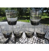 "6 Vintage Libbey Classic Smoke Gray 4"" Old Fashioned Rocks Glass"