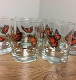 Vintage Couroc of Monterey Butterfly Glass