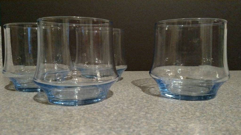Vintage Libbey Azure Blue 10oz Rocks Glass