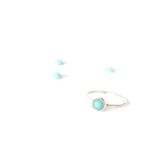Mana Made Jewelry Mana Made Blue Quartz Gemstone Ring (Size 7)