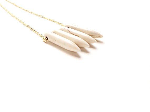 Mana Made Jewelry Mana Made Howlite Spike Necklace